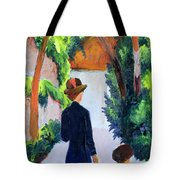 Mother And Child In The Park Tote Bag