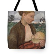 Mother And Child Tote Bag by Paula Modersohn Becker