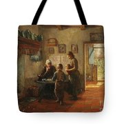 Mother And Children Tote Bag