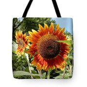 Mother And Daughter Sunflowers Tote Bag