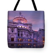 Mother Church And Reflection Tote Bag