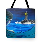 In The Glow Of The Lighthouse  Tote Bag