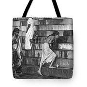 Mother Ganges - Paint Bw Tote Bag