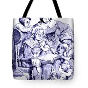 Vintage Mother Goose Reading To Children Tote Bag