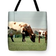 Mother Guarding Her Calf Tote Bag