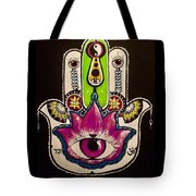 Mother Nature Hamsa Tote Bag