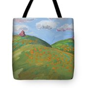 Mother Nature With Poppies Tote Bag