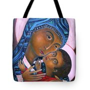 Mother Of God And Child Tote Bag