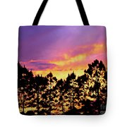 Mother Of Pearl Behind Tree Lace Tote Bag