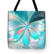 Mother Of Pearl Butterfly Tote Bag