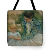 Mother Playing With Child Tote Bag