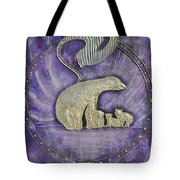 Mother Polar Bear Love For Cubs Tote Bag