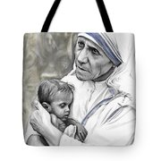 Mother Teresa. God Bless This Child Tote Bag