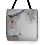 Mother Teresa Pencil Sketch Tote Bag