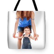 Mother With Little Son Tote Bag
