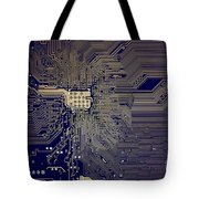 Motherboard Architecture Blue Tote Bag