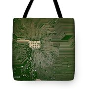 Motherboard Architecture Green Tote Bag