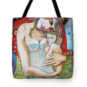 Motherhood - Tribute To Klimt Tote Bag