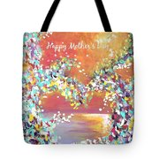 Mother's Day Greeting Card Heart Tote Bag