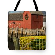 Motif 1 At Christmas, Rockport, Ma Tote Bag