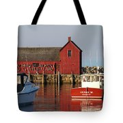 Motif No. 1 Reflections Rockport Massachusetts Tote Bag