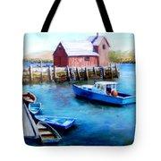 Motif One Rockport Harbor Tote Bag by Jack Skinner