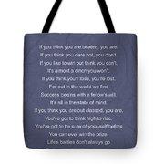 Motivational Poem - The Victor Tote Bag