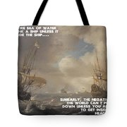 Motivational Quotes - Defiance Tote Bag