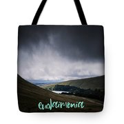 Motivational Travel Poster - Eudaimonia Tote Bag