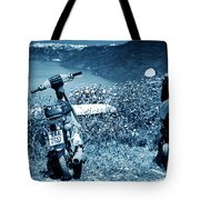 Motor Scooters In Greece Tote Bag
