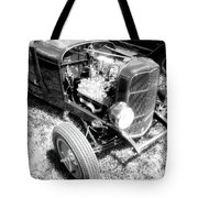 Motor Wheel Bw Tote Bag