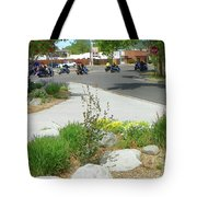 Motorcycle Parade Tote Bag