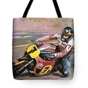 Motorcycle Racing Tote Bag by Graham Coton