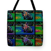 Motorcycle Road Race Tote Bag