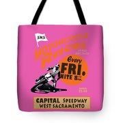 Motorcycle Speedway Races Tote Bag