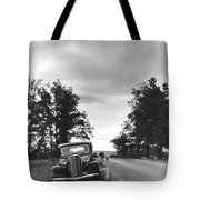 Motorist Parked By Roadside Tote Bag