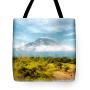 Mount Agung On The Island Paradise Of Bali Tote Bag