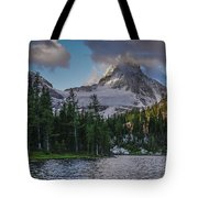 Mount Assiniboine In Clouds Tote Bag