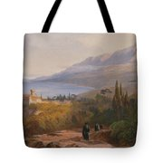 Mount Athos And The Monastery Tote Bag