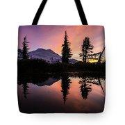 Mount Baker Sunrise Reflection Tote Bag