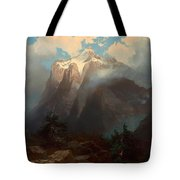 Mount Brewer From King's River Canyon - California Tote Bag