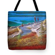 Mount Cadilac Path Tote Bag