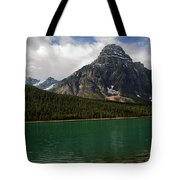 Mount Chephren From Waterfowl Lake - Banff National Park Tote Bag