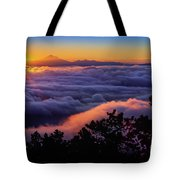 Mount Constitution Sunrise Tote Bag