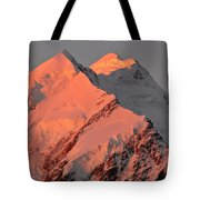 Mount Cook Range On South Island In New Zealand Tote Bag