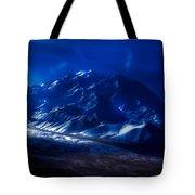 Mount Denali Moonlight Alaska Tote Bag