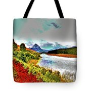Mount Errigal, Donegal, Ireland, Poster Effect 1a Tote Bag