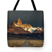 Mount Fitz Roy At Sunrise, Patagonia, Argentina Tote Bag