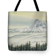 Mount Hood Evening Tote Bag
