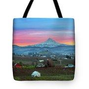 Mount Hood Over Hood River At Sunset Tote Bag